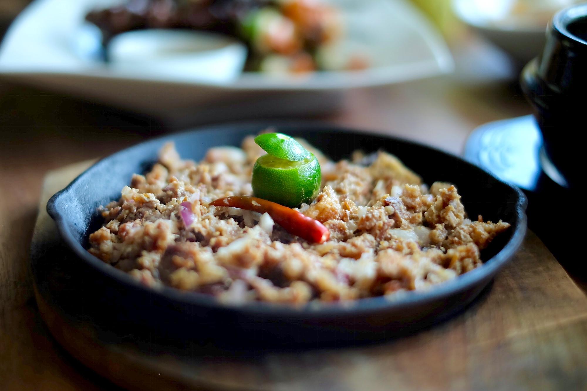 Kabisera Pork and Beef Sisig.